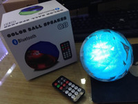 audio control gifts - Led Bluetooth Speaker Q8 Crystal Magic Ball Speakers Colorful Lights Wireless Stereo Subwoofers with Remote Control for Christmas Gifts