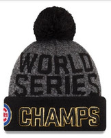 Wholesale New Cubs Beanies Cap World Series Champions Caps Baseball Sport Knit Hat Pom Knit Hats Mix Match Order All Caps Top Quality Hat
