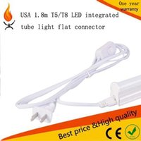 Wholesale USA ft m white T5 T8 Tube Connector with switch Cable cord wire for Integrated LED Fluorescent lighting