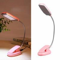Wholesale ight desk lamp Flexible LED Night Light Desk Lamp LED USB Plug Rechargeable emergency Table Light Battery For Work Study Bedroom Readin