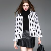 winter sweater for women - Polka Dot Long Sleeve Sweater with Zipper Contrast Color Print Cardigan for Women Cashmere Blend for Winter