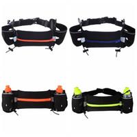 Wholesale Double Kettle Waist Bags Outdoor Cycling Running Bag Jogging Walking Waist Belt Bag Pack Pot Holder Stander Running Bag Waistpacks F582
