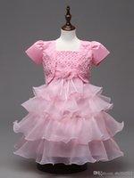 Shawl Sling Girls Robe Princesse brodé Princesse Quatre couleurs 5 Taille pour les filles Meilleur vêtements Livraison gratuite C0193