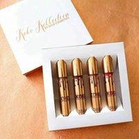 Wholesale Kylie Jenner Lip Kit Lipgloss Set KOKO Kollection Set Koko Kylie Cosmetics Kollaboration Gold Metal Matte lipstick KHLOE Lip Gloss
