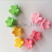 Wholesale 40pcs Cute hair accessories for girls clips flower clips for hair Accessories Princess Elsa Anna Hair rope Snow Flower Hairpins BB