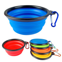 Wholesale Silicone Collapsible Feeding Bowl Dog Water Dish Cat Portable Feeder Puppy Pet Travel Bowls
