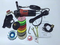 Wholesale electric stone wet polisher with GFCI variable speed v w c w pads free