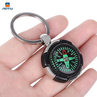 adventure cycling - AOTU AT7624 Keychain Tyre Shaped Compass Decoration for outdoor Adventure Camping Climbing Cycling Hiking