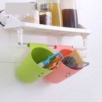 Wholesale Vogue to live in New creative kitchen waste storage box of cupboard door hanging trash can