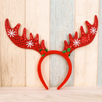 big antlers - Christmas Headbands Big Antlers Headbands for Christmas Decorations Xmas Party Supplies for Hotel Shopping Mall Resturant