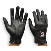 Wholesale Real Leather Men s golf gloves black thickening sheepskin gloves pair left and right with high quality