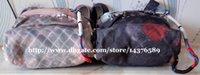 Wholesale retail New Brand Men women Real Fashion Bags Travel Bags graffiti canvas shoulder bag catwalk canvas backpack bag School Bags