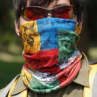 Wholesale Outdoor Sports Cycling Bike Bicycle Riding Variety Turban Mix Color Head Scarf Scarves Face Mesh Bandanas