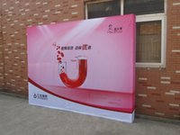 Wholesale 10ft High quality Pop up Display Banner Stand Promotion Pop up Display Tension Fabric Frame Exhibition Booth Trade Show BST4 A Banner