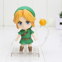 Wholesale Cute Nendoroid The Legend of Zelda Link Majora s Mask D Ver PVC Action Figure Collectible Model Toy quot cm