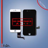 Vente en gros-Pour iPhone 7 iPhone 7 Plus Grade A +++ Écran LCD blanc Écran tactile Écran numériseur + Ensemble cadre