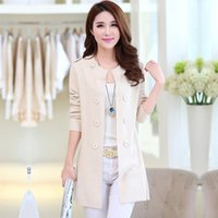 ban coat - spring new Miss Han Ban sweater coat long sleeved cardigan thin sweater long section of large size women s coat
