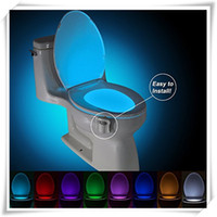 Wholesale Colorful toilet nightlight motion activated Bathroom Human Body Auto Motion Activated Sensor Seat RGB Light Night Lamp Color Changes