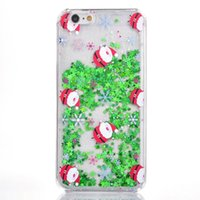 best apple trees - best Quicksand Star Christmas tree Santa Claus Clear Flowing Liquid Glitter Phone Cases for iPhone s SE s Plus plus