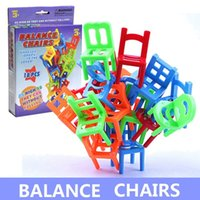 balance chair - Balance chairs toys Plastic chair toy for Children Learning Education fun game kids gift