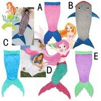 Wholesale Shark Blanket Ages Sleeping Bag Hot Mermaid Tail Blankets Kid Cartoon Blanket Girls Mermaid Boys Shark Blankets
