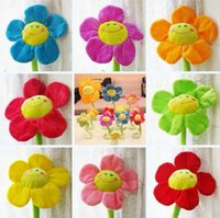 Wholesale 50pcs cm Stuffed Plus Animals Sun flowers plush plants Baby s bed decoration room Curtain buckle