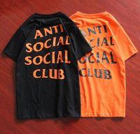 Wholesale fashion Summer t shirt Anti Social Social Club T Shirt Letter Slogan Short Sleeve tees women and men T shirt