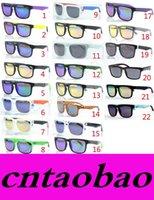 al por mayor precios en bloque-MOQ = 50pcs El precio de fábrica de la venta al por mayor nueva manera KEN BLOCK HELM las gafas de sol reflectantes coloridas de la capa que completan un ciclo los deportes que deslumbraban las gafas de sol