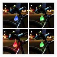 bicycle wheel led light - Safety SOS Cycling Night Warning Taillight Waterproof Cycling Rear Light Heart Bicycle Tail Egg Light MTB Bike Rear Light Design