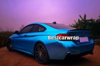 aluminum casting cover - aluminum blue satin chrome Car Wrap Film Vinyls with air bubble Free For Luxury Vehicle Graphics CAST VINYL decals covering foil x20m