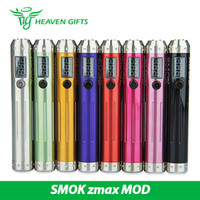 achat en gros de batterie zmax-SMOK zmax VV VW Boîte MOD Variable Tension Variable Puissance SMOK zmax MOD Fonctionnement avec 18650 Batterie 9 couleurs E Cig Mod 100% Original