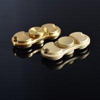 Wholesale EDC HandSpinner fingertips spiral fingers gyro Torqbar Brass pure copper toys