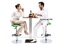 Wholesale bar chair Regal coffee chair furniture shop retail red white green black European adjustable seat footrest