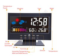 Digital antique station clocks - mail direct electronic clock new weather station clock background light color Thermometers Temperature and humidity meter