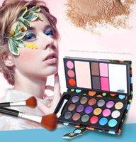 Wholesale Maquiagem Color Eye Shadows Blush Pressed Powder Lip Frozen Eyebrow Professional Makeup Sets Wallet Eyeshadow