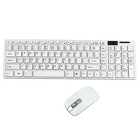 Wholesale Mini Ultra Slim Wireless GHz keyboard and Mouse Kit For Desktop Laptop PC Black and White option