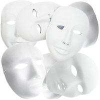 Wholesale Plain White Plastic DIY Painting Halloween Masquerade Party Cosplay Masks male female ZJ0001 male female w