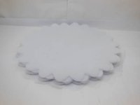 Wholesale Organza Scalloped Edge Tulle Round Circles Wedding Favor Jewellery Pouches Organza Round Plate Bag
