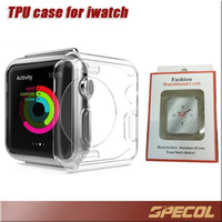 Wholesale Apple Watch Case Ultra Thin Slim Crystal Clear Transparent TPU iwatch Cases Cover Skin For mm mm iwo smart watch With Retail Package