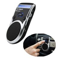 Wholesale China Post Free Wireless Bluetooth Handsfree Car Kit Solar Power Speakerphone For Mobile Phone Dual Phone Connect