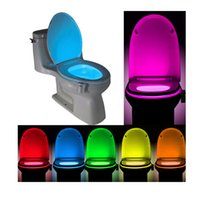 Wholesale Toilet Night Light Motion Activated Toilet Night Light with Color Changing Sensor LED Washroom Night Light