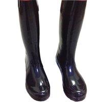 venda por atacado botas curtas-Homens Mulheres RAINBOOTS moda Joelho de alta chuva botas impermeáveis welly botas de borracha rainboots água sapatos rainshoes alto e curto 11 cores