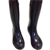 Half Boots black wellies - Men Women RAINBOOTS fashion Knee high rain boots waterproof welly boots Rubber rainboots water shoes rainshoes tall and short colors