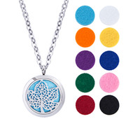 Wholesale Essential Oil Diffuser Necklace Locket Pendant Hypo allergenic316L Surgical Grade Stainles Jewelry with quot Chain and Washable Pads