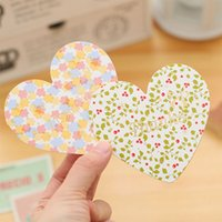 Wholesale Blessing language love romantic Valentine s small fresh heart folded card card message card Material paper