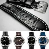 22mm 24mm 26mm Ceintures étanches en cuir véritable Bracelet en cuir pour Panerai Watch Man Watchband Thick + Free Tools