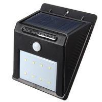 Wholesale 8 LED Solar Wall Light Power PIR Motion Sensor Wall Light Outdoor Waterproof Garden Lamp