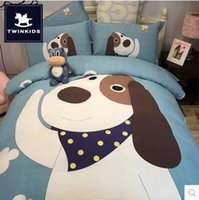 Wholesale The autumn and winter of four sets of children s cartoon thick sanding cotton cotton bedding m double quilt