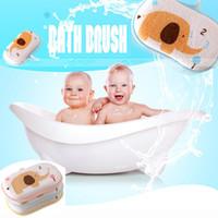 baby body wash - Soft Safe Newborn Baby Bath Brush Foam Rub Baby Towel Accessories Infant Shower Cotton Body Wash Child Washcloths