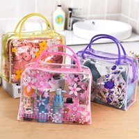 Wholesale Transparent Waterproof Women Toiletry Kit PVC Zipper Cosmetic Bag Large Capacity Makeup Storage Pouch for Lady